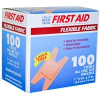 """First Aid Adhesive Bandage, Knuckle, 1.5"""" x 3"""", 200 Bandages MS-25600"""