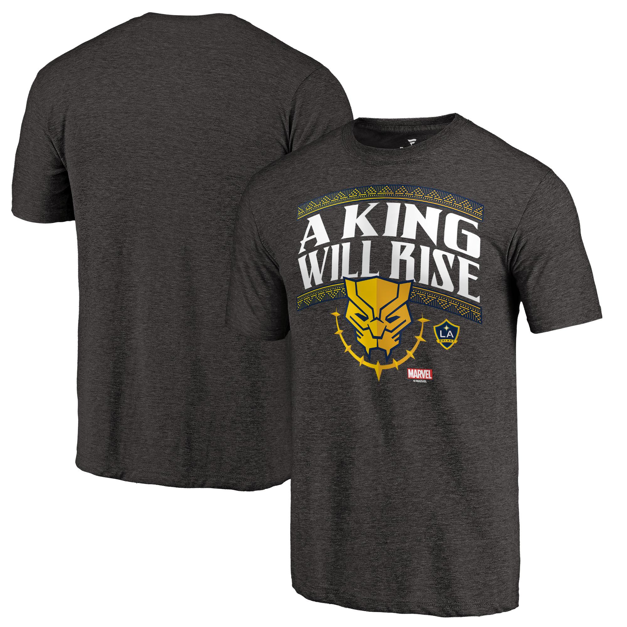 LA Galaxy Fanatics Branded Marvel Warrior King Tri-Blend T-Shirt - Black