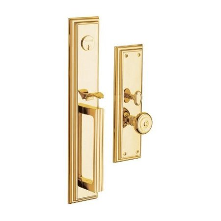 - Baldwin 6542003ENTR Entrance Tremont Complete Lock Trim, Polished Brass Lifetime Finish