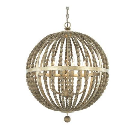Capital Lighting-4796TZ-Lowell - Six Light Pendant  Tuscan Bronze
