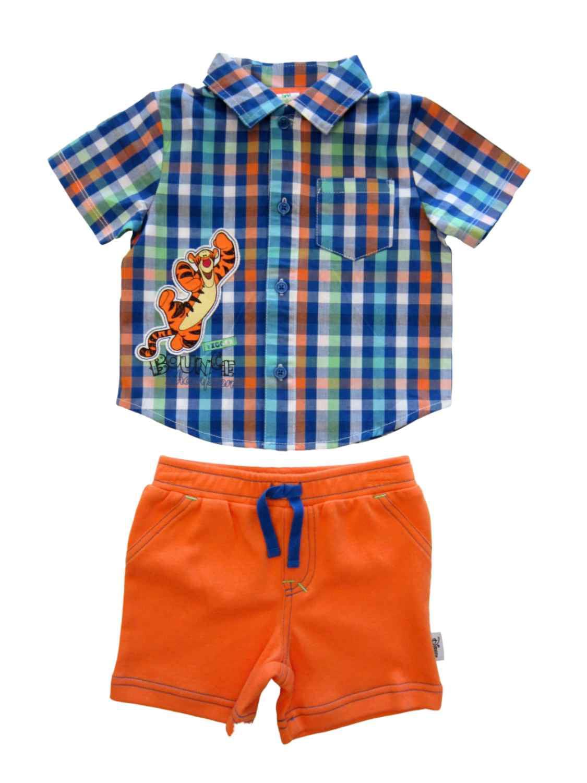 Disney Infant Boys Tigger Bounce Champion Plaid Shirt & Shorts Set