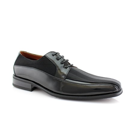 Ferro Aldo Lorenzo MFA129207L Black Color Men's Oxfords With Lace-up Closure and Classic Shine Dual fabric Detailing Dress Shoes For Work or Party (Ferro Aldo Mens Oxford)