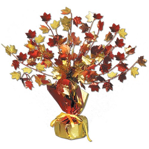 The Holiday Aisle Fall/Thanksgiving Fall Leave Gleam 'N Burst Centerpiece