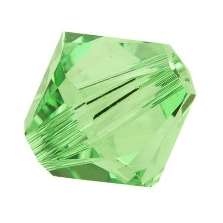 (Swarovski Crystal, #5328 Bicone Beads 6mm, 20 Pieces, Peridot)
