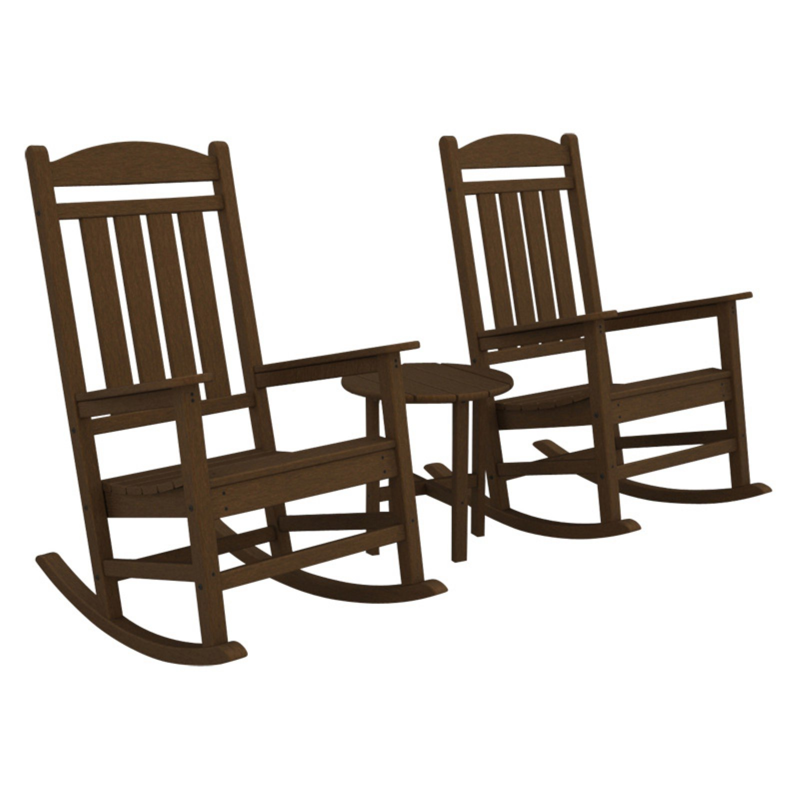 POLYWOOD® Presidential Recycled Plastic 3 pc. Rocker Set with Round Side Table