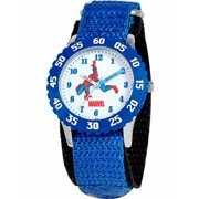 Spider-Man Boys' Stainless Steel Watch, Blue Strap