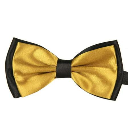 Iuhan Men Satin Adjustable Bowtie Tuxedo Wedding Bow Tie Necktie (Good Mens Tee)