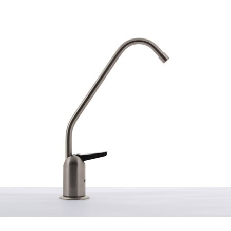 Hydronix LF-BLRAG-BN Long Reach RO Reverse Osmosis or Filtered Water Faucet, Lead Free, Brushed Nickel w/ Air Gap