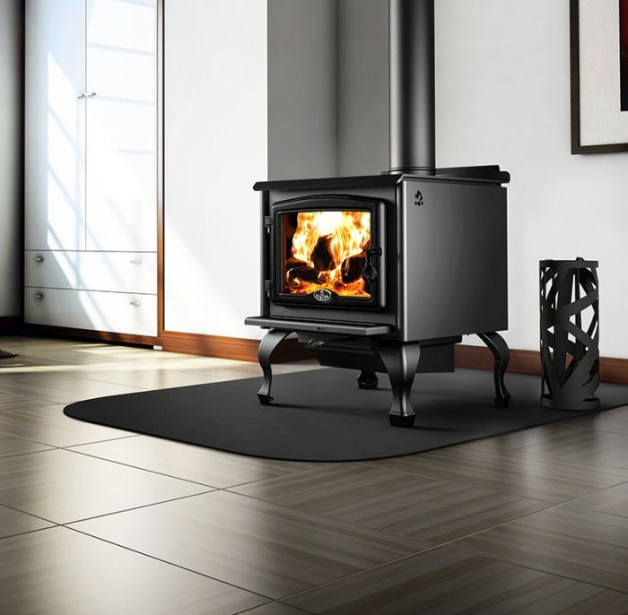 Osburn 2300 Wood Stove w/Blower, Black Overlay and Leg Kit