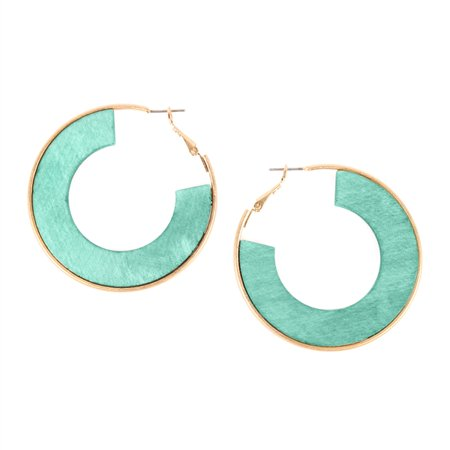 Riah Fashion Wood Spring Earrings
