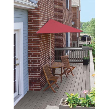 Cc Home Furnishings Oval Wood Red Patio Set