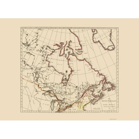Old North America Map.Old North America Map British Possessions Carey 1776 23 X