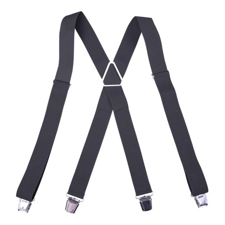 HDE Men s X-Back Clip Suspenders Adjustable Elastic Shoulder Strap - 1.5