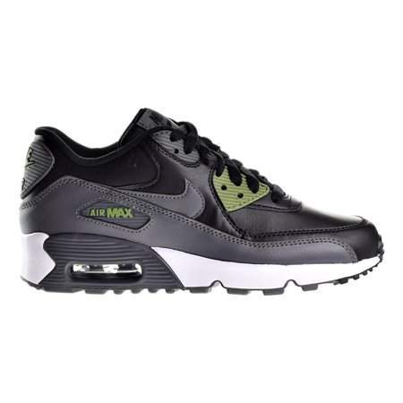 new arrival 23f48 e5634 Nike Air Max 90 LTR (GS) Big Kids Shoes Black Dark Grey Palm Green  833412-008 - Walmart.com