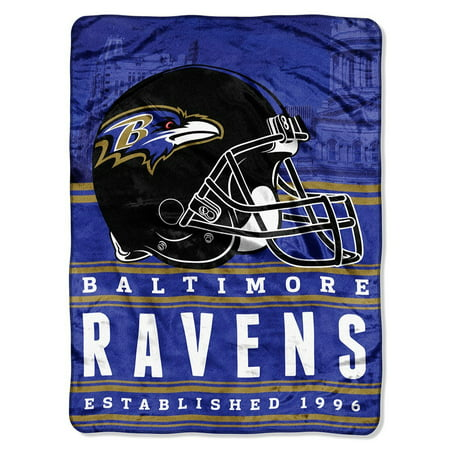 "NFL Baltimore Ravens ""Stacked"" 60"" x 80"" Silk Touch Throw"