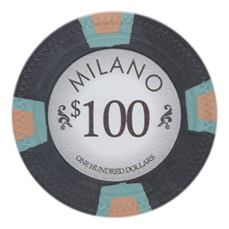 Claysmith Gaming Milano 10g Poker Chips, $100 Real Casino Clay, 50-pack