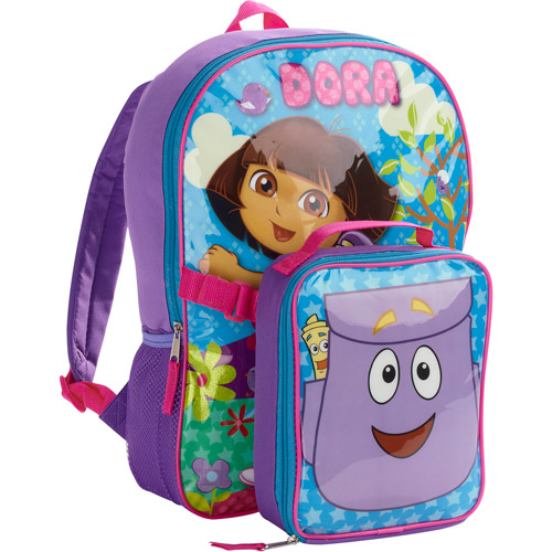 """Dora the Explorer 16"""" Backpack with Lunch Kit"""