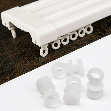 Mrosaa Plastic Window Curtain Drapery Track Carrier Wheels Rollers - Half Track Personnel Carrier