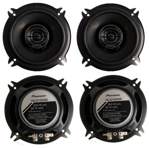 4) Pioneer 5.25 Inch 500 Watt Car Audio Coaxial Stereo Speakers |  TS-G1345R