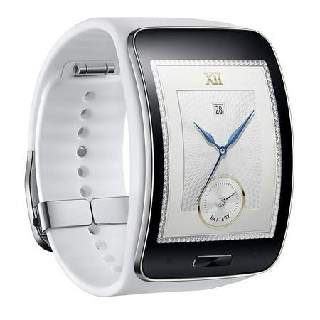 Samsung Galaxy Gear S R750w Smart Watch W  Curved Super Amoled Display  White    International Version No Warranty