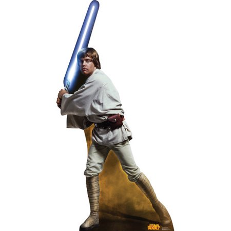 Star Wars Classic Luke Skywalker Retouched Lifesize Standup Cardboard Cutout