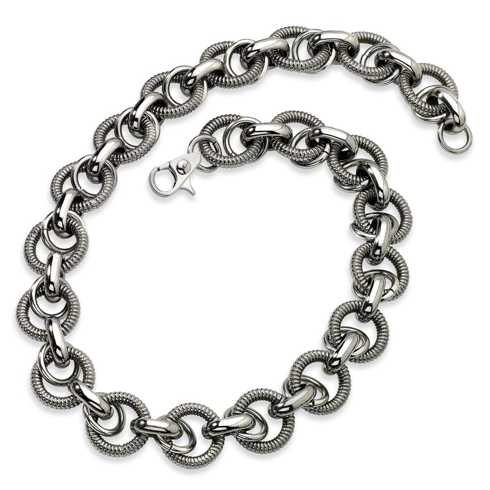 Stainless Steel Fancy Link Necklace (22in long)
