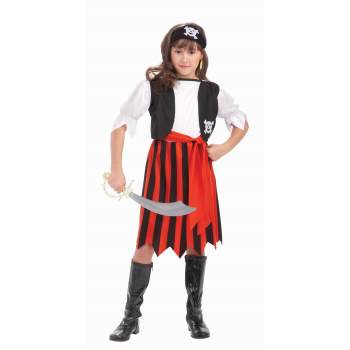 CHCO-PIRATE LASS-MEDIUM - Pirate Lass Costume