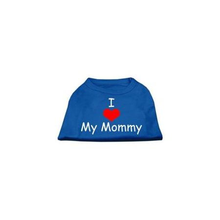Mirage Pet Products 14-Inch I Love My Mommy Screen Print Shirts for Pets, Large, Blue - Mommy Patch Products