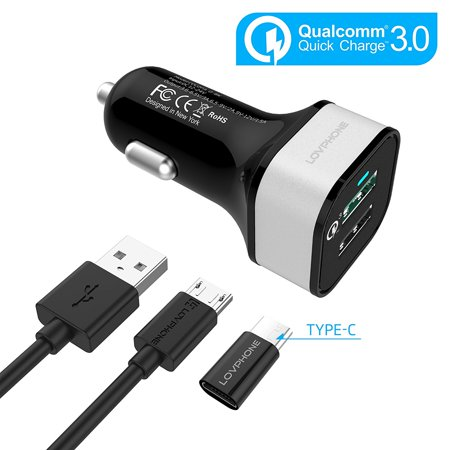 Quick Charge 3 0 Car Charger Qc 3 0 Fast Charger 2 Port Dual