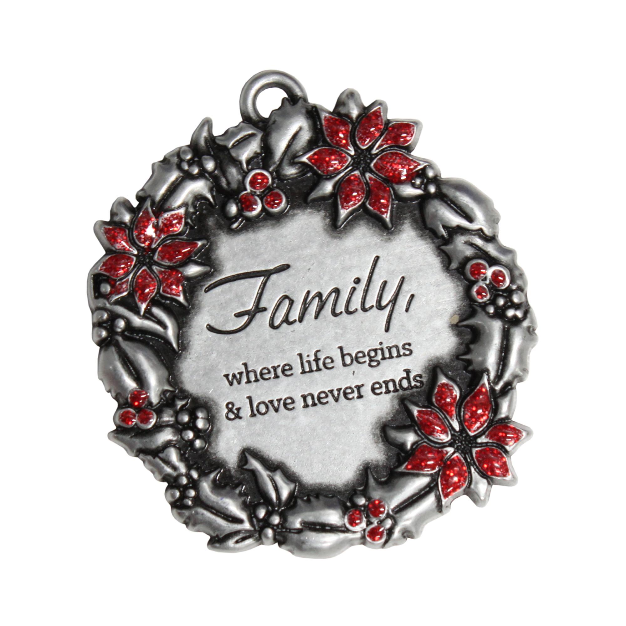 Gloria Duchin Poinsettia Wreath Ornament