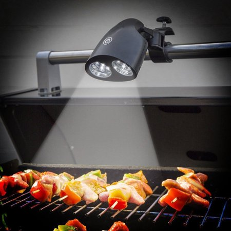 Cordless Led Grill Light - BBQ Grill Light, Outside Grill Light, Outdoor Barbecue 10 LED Grill Light Touch Sensitive Switch Grill Light Lamp