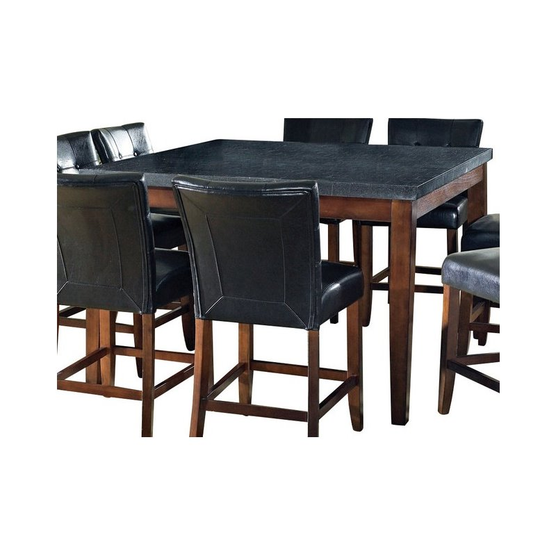 Steve Silver Bello Granite Square Counter Height Dining Table in Cherry