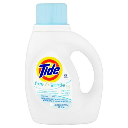 Tide Free And Gentle Liquid Laundry Detergent  25 Loads  40 Fl Oz