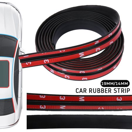 2M 14/19MM Car Rubber Strip Rubber Seal Strip Waterproof Car Seal Strip Car Protector Door Edge Windshield Roof Rubber Sealing Strip Roof Rail Rubber Seals