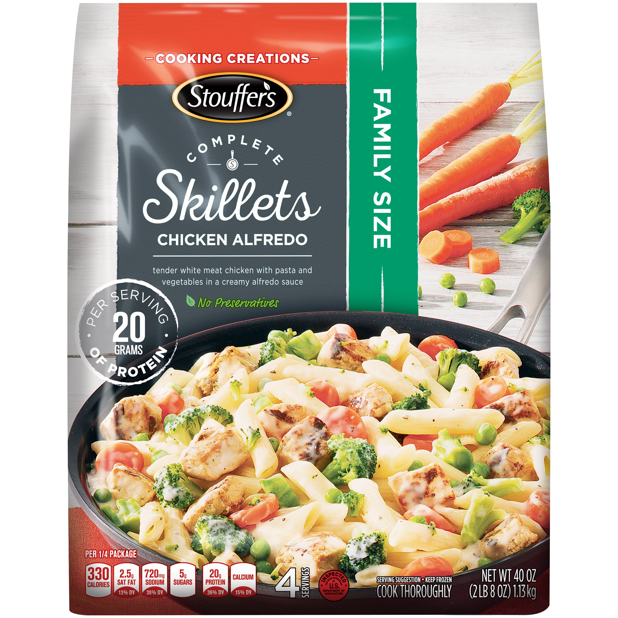 STOUFFER'S COMPLETE SKILLETS Family Size Chicken Alfredo 40 oz. Bag