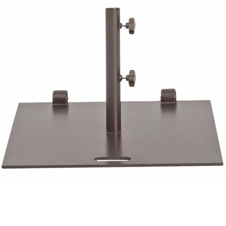 Abba Patio 2 Ft Square Steel Market Umbrella Base Stand With Wheels 53lbs