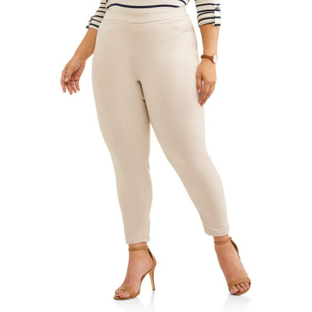 Stretch Air Pants - Women's Plus Size Pull On Stretch Woven Pant