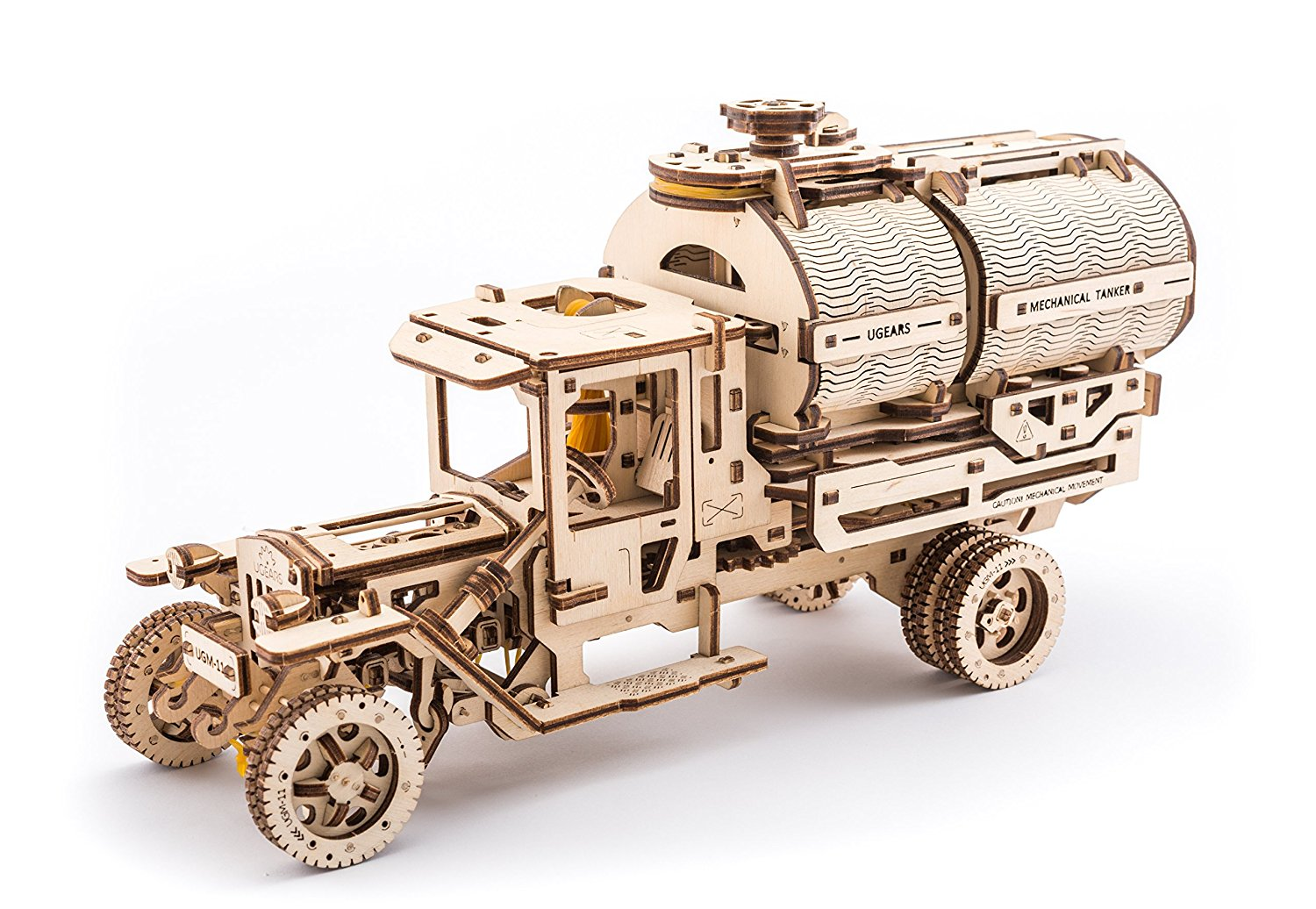 Set of additions for Truck (Tanker, Rescue Ladder and Trailer Chassis) by Ugears is Mechanical 3D Puzzle for... by UGEARS
