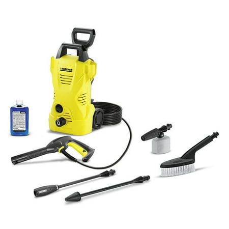 120 Volts, 1560 Watts K2 Car Care Kit 1600 Psi 1.25 Gpm Electric Power Pressure Washer - Yellow - Karcher