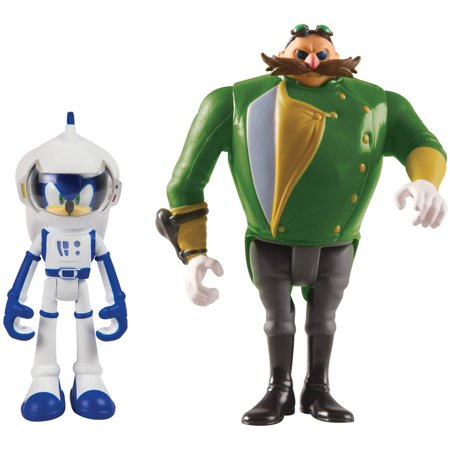 Sonic Boom Small Figure 2Pk  Spacesuit Sonic And Parallel Universe Villain