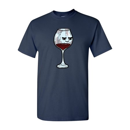 Too Cute To Drink Glass Of Red Wine Adult DT T-Shirts Tee