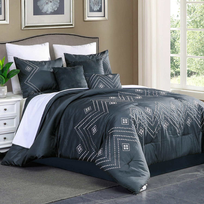 hig 7 piece 100 brushed microfiber king size comforter