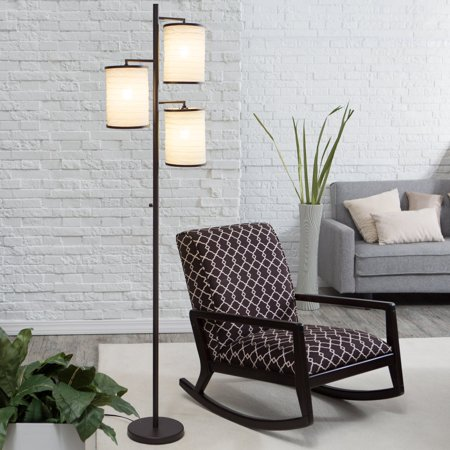 "Adesso 4152 Bellows 3-Light 74"" High Floor Lamp"