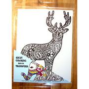 """Deer Coloring Transfer-9""""x12"""""""