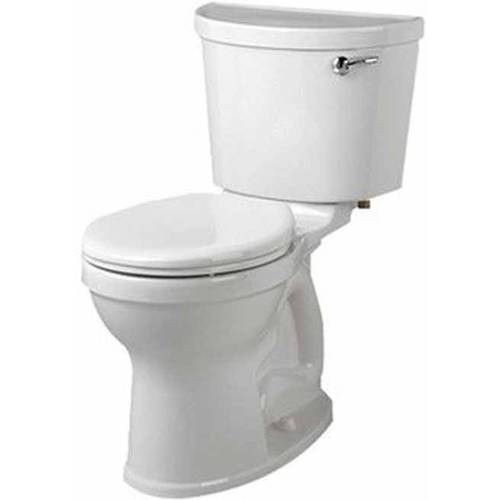 "American Standard 211BA.105.020 Champion Pro Two-Piece Right Height Round Front 1.28GPF Toilet with Right Hand Trip Lever and 12"" Rough-In, White"