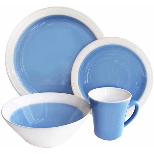 Ashbury Blue 16-Piece Dinnerware Set