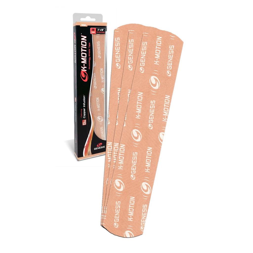 Genesis K-Motion Tape with Copper Infuzion- Beige Pre-Cut Pack
