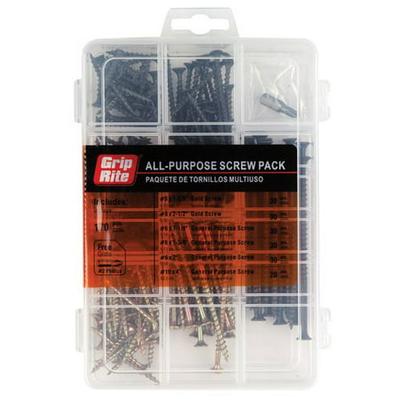 Grip-Rite Indoor-Use Screws Assorted Sizes (170-pack)