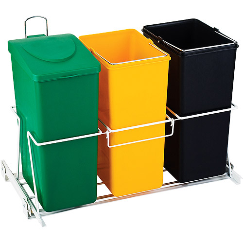 The Smart Bin 12 Gallon under counter pull-out waste and recycling system