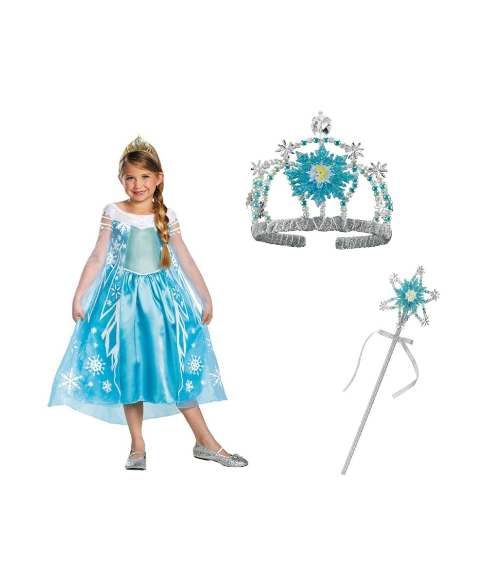 Disney Frozen Elsa Costume with Accessory Kit